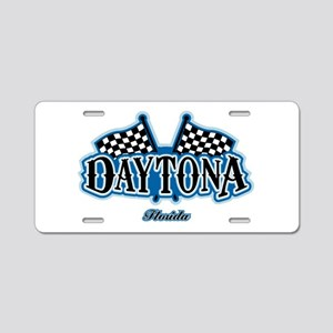 Daytona Flagged Aluminum License Plate