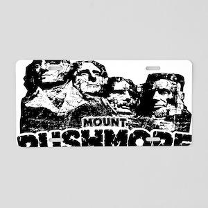 Mount Rushmore Aluminum License Plate
