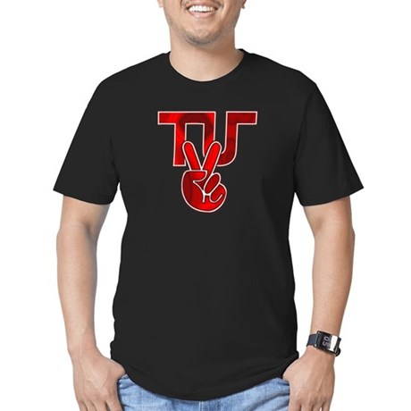 TydyUnify - Red Peace Fingers Men's Fitted T-Shirt