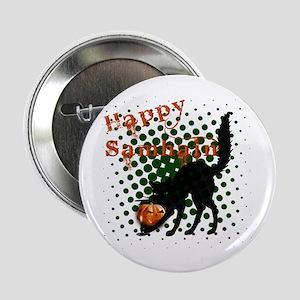 "Happy Samhain Cat 2.25"" Button"