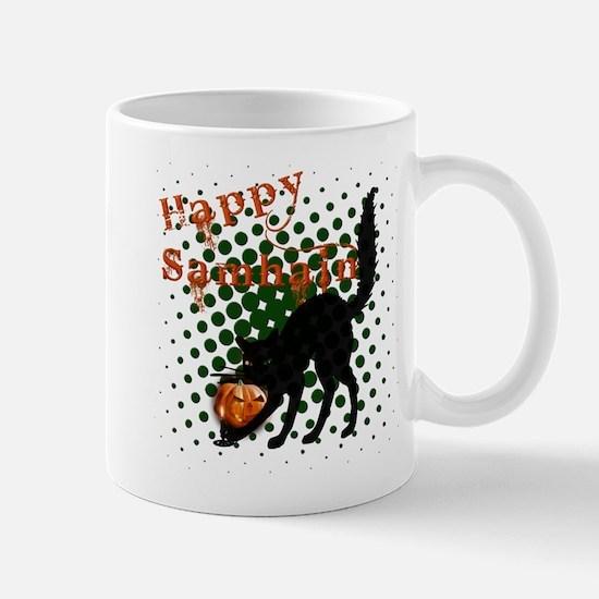 Happy Samhain Cat.png Mug