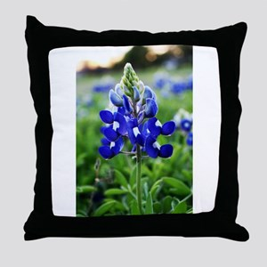 Lonestar Bluebonnet Throw Pillow