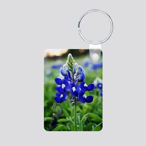 Lonestar Bluebonnet Aluminum Photo Keychain