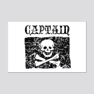 Captain Jolly Roger Pirate Mini Poster Print
