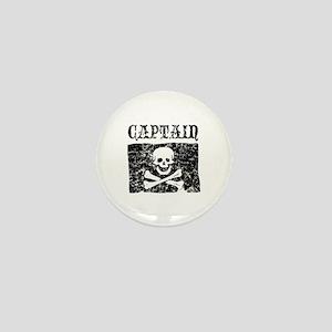 Captain Jolly Roger Pirate Mini Button