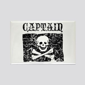 Captain Jolly Roger Pirate Rectangle Magnet