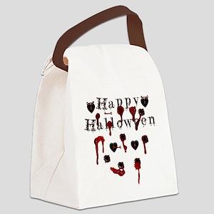 Happy Halloween gunbloodshot Canvas Lunch Bag
