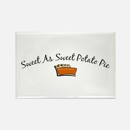 Sweet As Sweet Potato Pie Rectangle Magnet