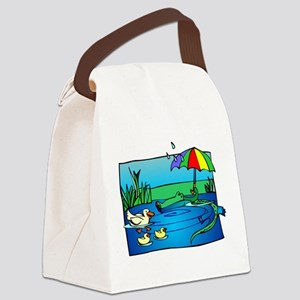SNEAKY GATOR Canvas Lunch Bag