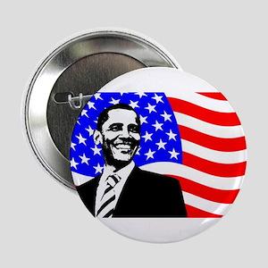 """Obama/Flag! 2.25"""" Button"""