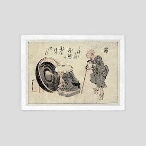 Zato and a lacquer craftsman - Anon - 1846 5'x7'Ar