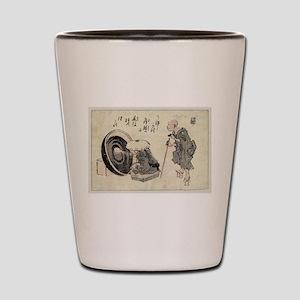 Zato and a lacquer craftsman - Anon - 1846 Shot Gl