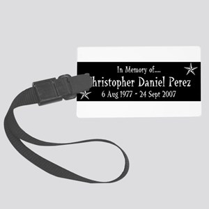 CDP10Y1WHT Large Luggage Tag