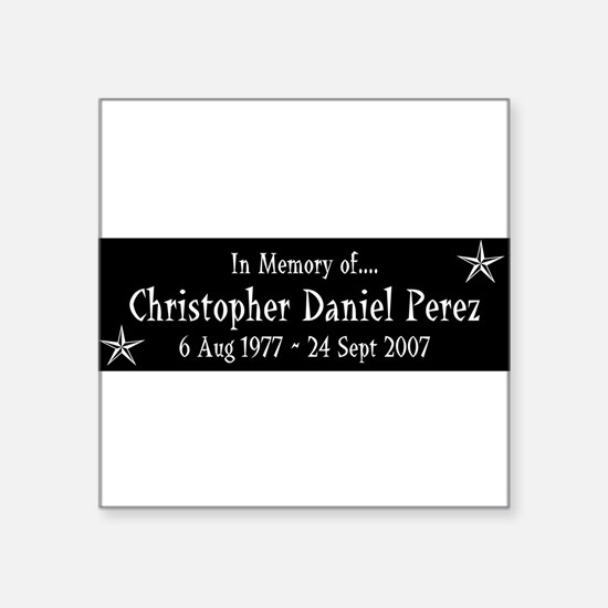 "CDP10Y1WHT.png Square Sticker 3"" x 3"""