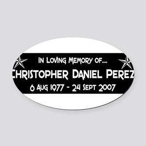 CDP6S8WHT Oval Car Magnet