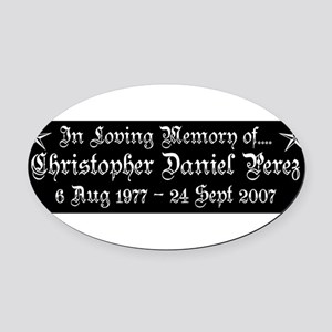 CDP5T3WHT Oval Car Magnet