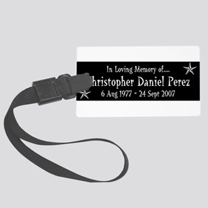 CDP3Y1WHT Large Luggage Tag
