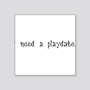 "PLAY1A Square Sticker 3"" x 3"""