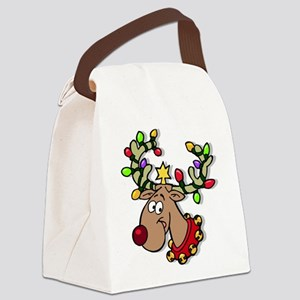 REINDEER106 Canvas Lunch Bag