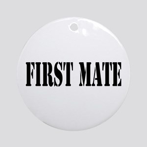 First Mate Ornament (Round)