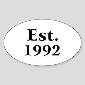 Est. 1992 Oval Sticker