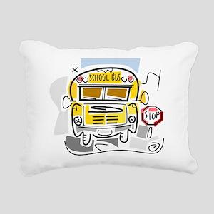 j0410911_school bus Rectangular Canvas Pillow