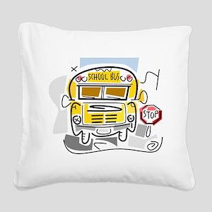 j0410911_school bus Square Canvas Pillow