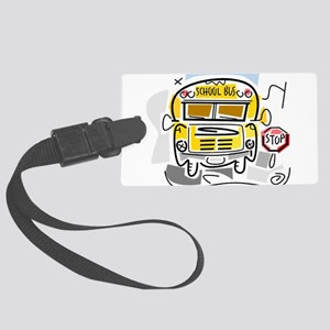 j0410911_school bus Large Luggage Tag