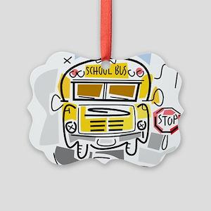 j0410911_school bus Picture Ornament