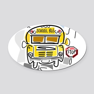 j0410911_school bus Oval Car Magnet