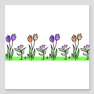 "j0398227_tulips pastel Square Car Magnet 3"" x"