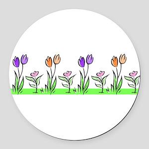 j0398227_tulips pastel Round Car Magnet