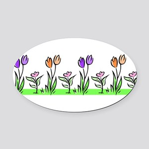 j0398227_tulips pastel Oval Car Magnet