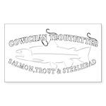 white cowichan troutfitt Sticker (Rectangle 10 pk)