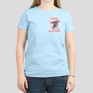 DADDY'S LITTLE CADDY Women's Pink T-Shirt