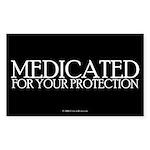 medicated.rect.sticker Sticker (Rectangle 10 pk)