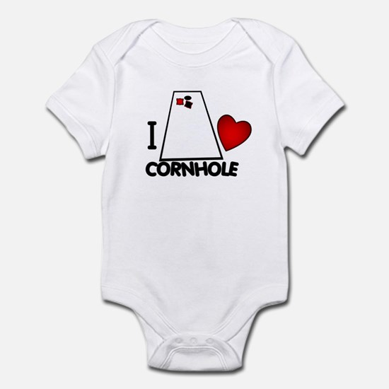 I Heart Cornhole Infant Creeper