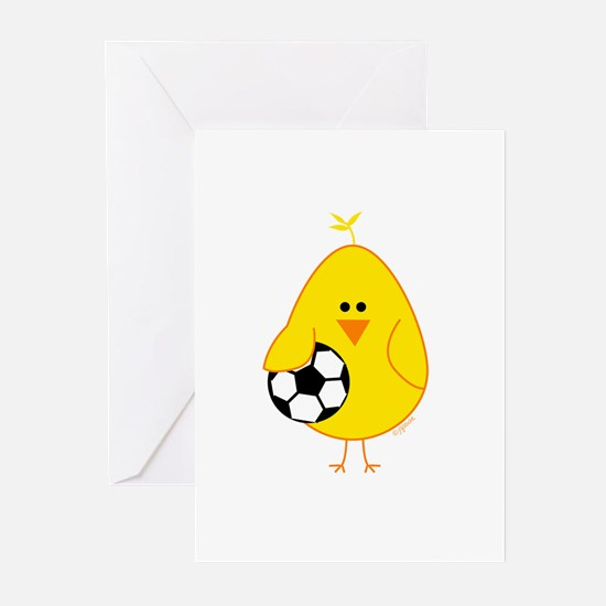 Soccer Chick Greeting Cards (Pk of 10)