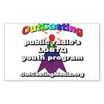 OutCasting - OCMedia Sticker (Rectangle 50 pk)
