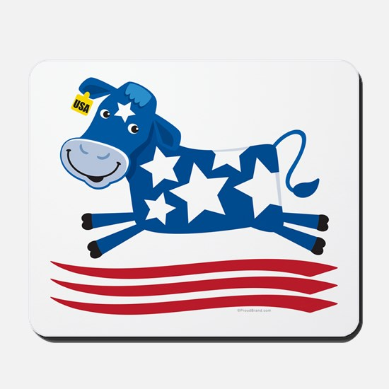 Proud Cow Leaping: Mousepad