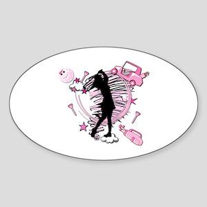 TEED OFF! GOLFER Oval Sticker