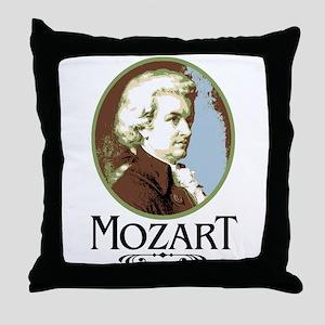 Mozart Throw Pillow