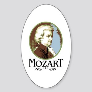 Mozart Oval Sticker
