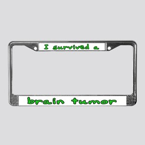 Brain tumor - License Plate Frame