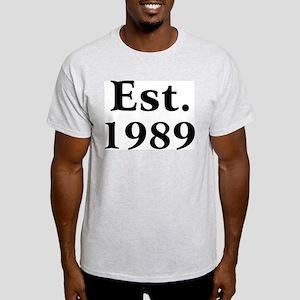 Est. 1989 Ash Grey T-Shirt