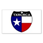 2-txrcrca Sticker (Rectangle 10 pk)