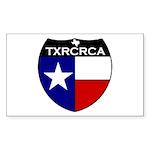 2-txrcrca Sticker (Rectangle 10 pk)
