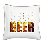 Beer Square Canvas Pillow