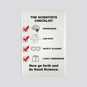 The Scientists Checklist Rectangle Magnet