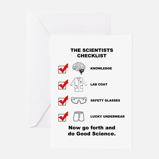 The Scientists Checklist Greeting Card